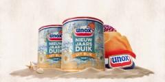 Unox durft het aan: de Nieuwjaarsduik in een soepblik
