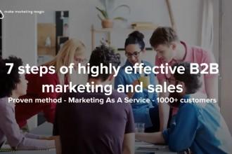 7 stappen van zeer effectieve B2B-marketing