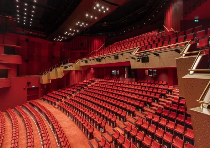 Theater vanaf de zijkant